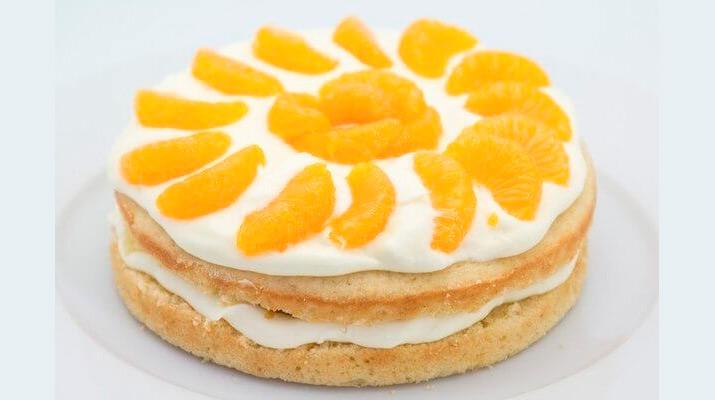 Лимонный торт с мандаринами