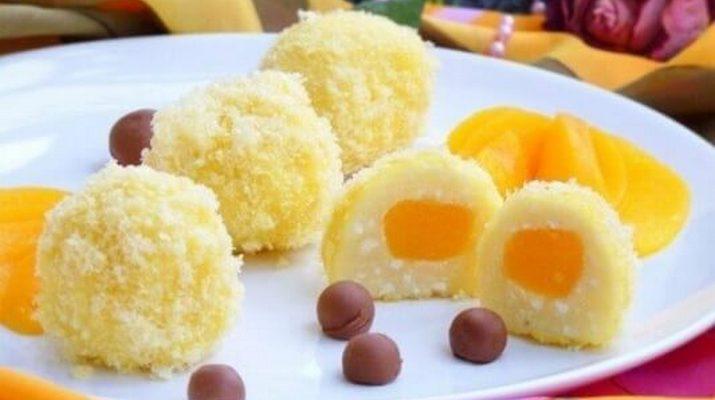 Легкий и очень быстрый десерт с творогом «Солнышко»