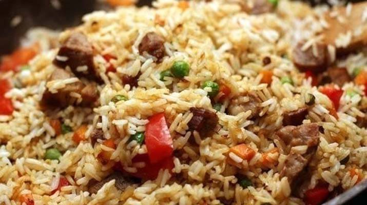 Пряный рис к свинине и овощам