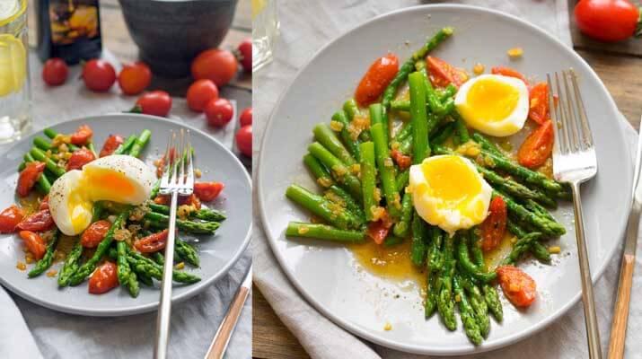 Рис с кунжутом, салатом и яйцом пашот