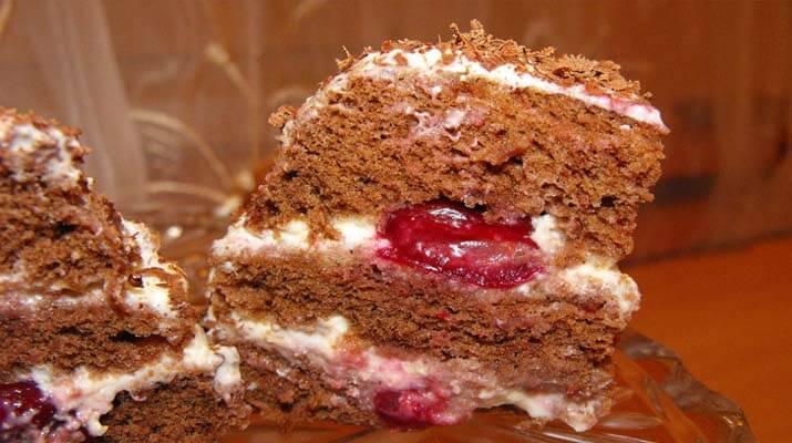Бисквитный тортик за 3 минуты