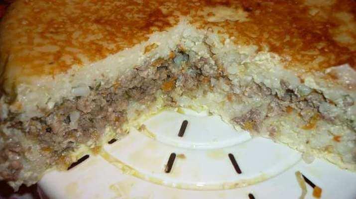 Запеканка с рисом и мясом