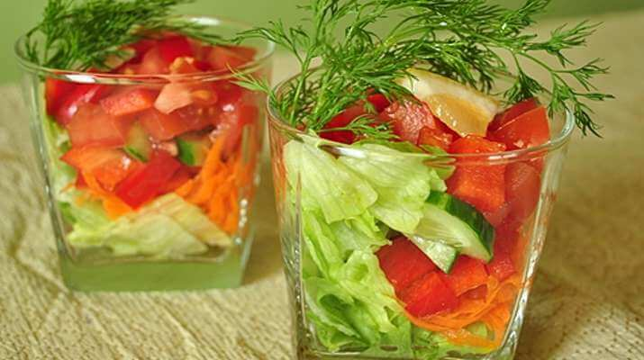 Салат Фитнес с овощами