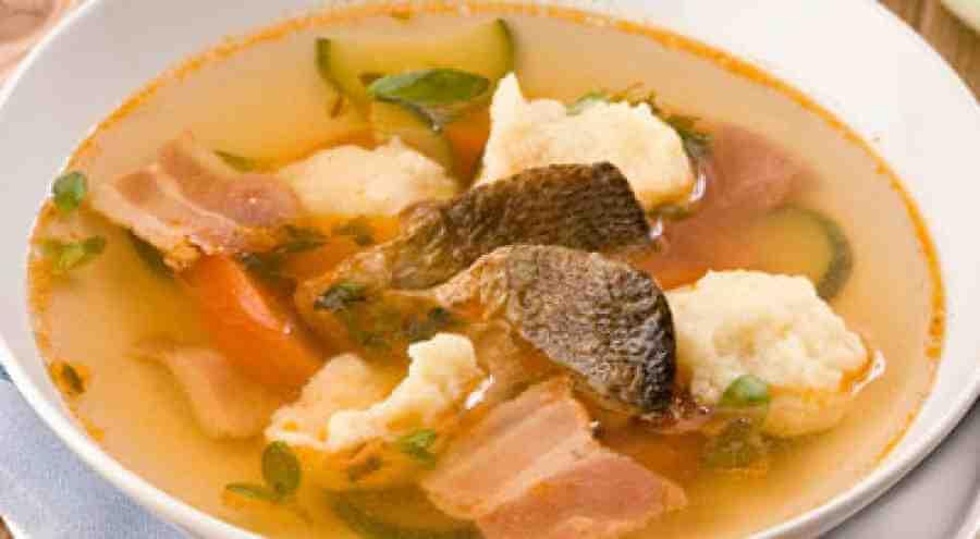 Суп из рыбы с галушками
