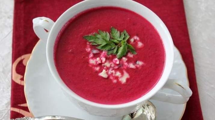 Свекольный суп со сладким перцем