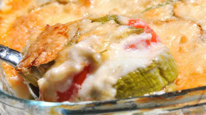 Запеканка из кабачков под сырным соусом