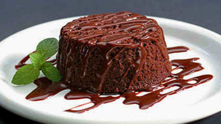 Шоколадно-творожный пудинг