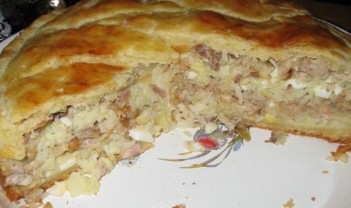 Легкий куриный пирог