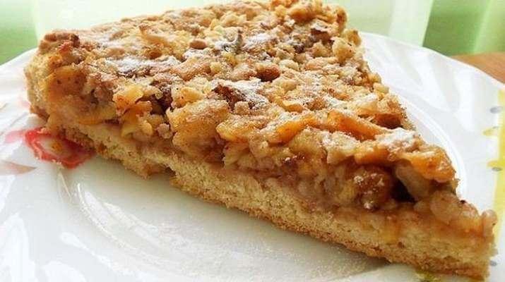 Ореховый венгерский пирог с яблоками