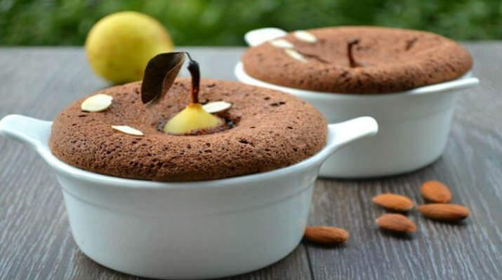 Груши запеченные в сливках с шоколадом