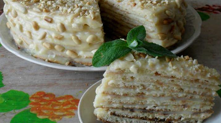 Простой творожный торт