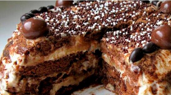 Шоко-рецепт торта из пряников с бананами «Черепаха»