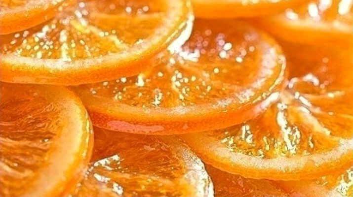 Апельсин, запеченный в сахаре