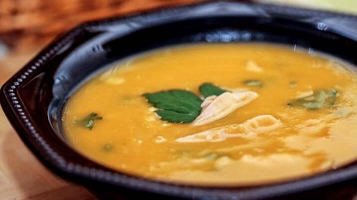 Тыквенный суп-пюре с курятиной
