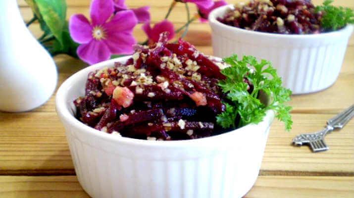 Салат из свеклы с орехами