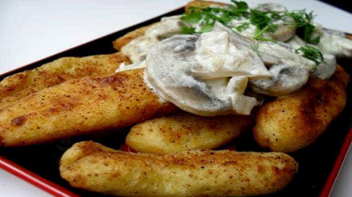 Такое блюдо выше всех похвал — картофельные палочки с грибами