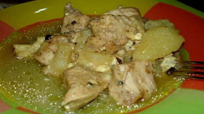Мясо птицы, запеченное в дыне