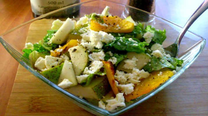 Этот салат просто тает во рту! Салат из тыквы, груши с брынзой!