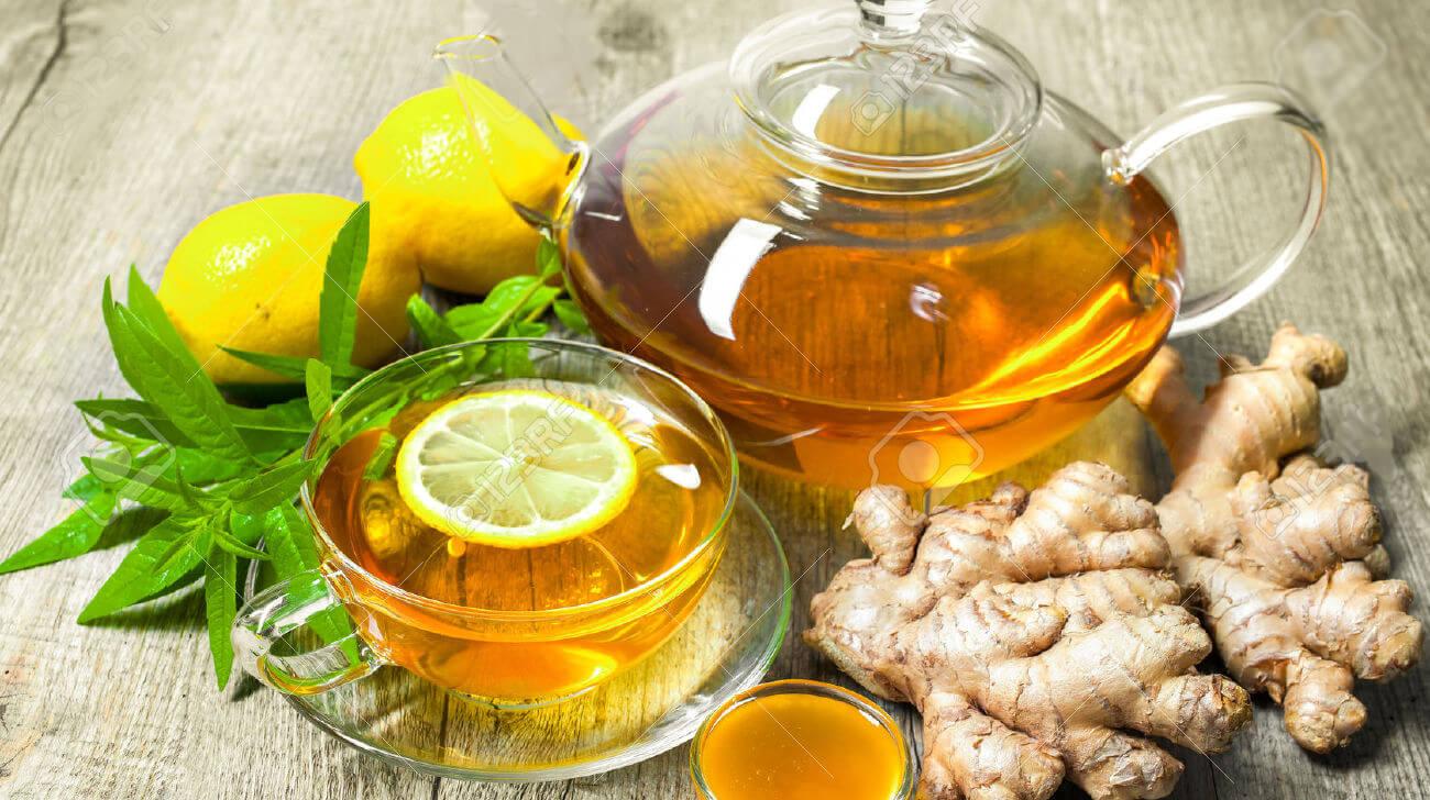 Теплый и уютный имбирный чай с медом