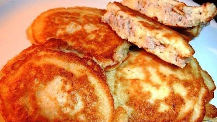 Драники с сыром и ветчиной