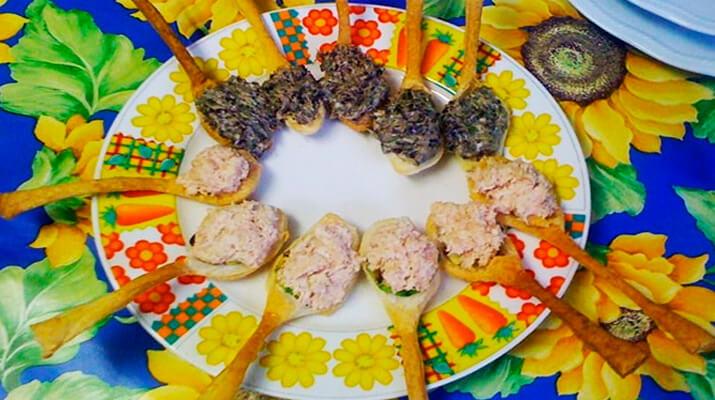 Съеобные ложки для десертов и закусок