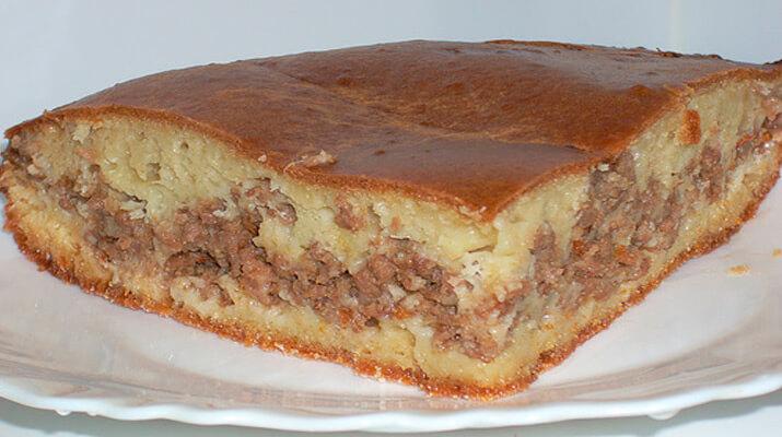 Пирог с мясом «Легче не бывает»!