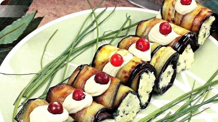 Жареные баклажаны в ореховом соусе по-грузински