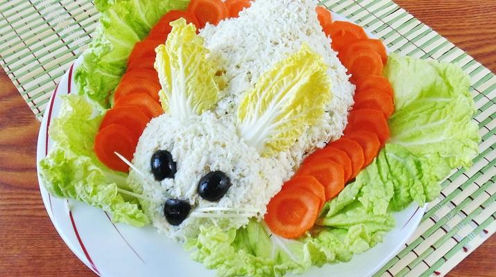 Пасхальный салат «Зайка»