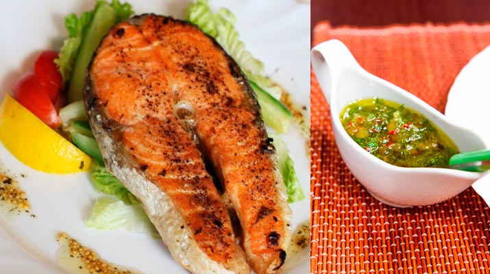 Медово-огуречный соус к рыбе
