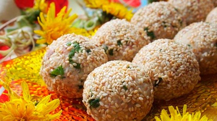 Салат из печени трески в «шариках»