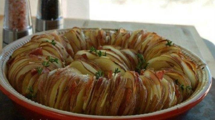 Великолепный картофель на гарнир. Даже нет необходимости чистить!
