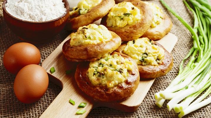 Ватрушки с картофелем и грибами