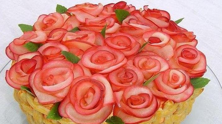 Пирожные «Розовый цвет»