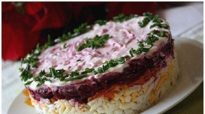 Салат с мясом «Мой генерал»