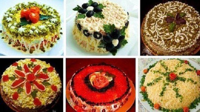 Подборка красивых салатов