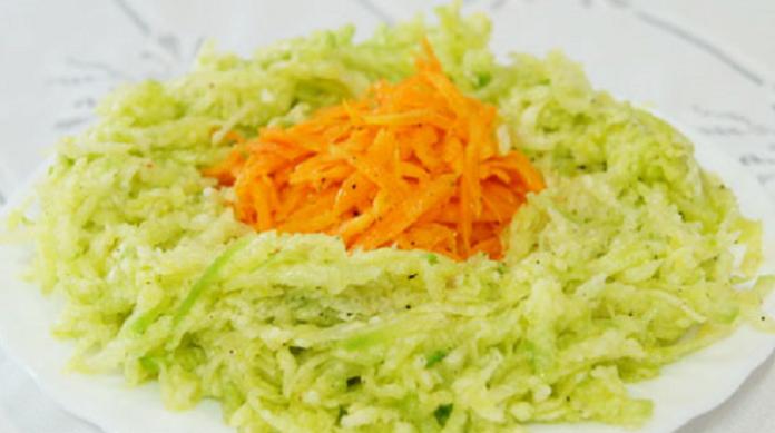 Салат из редьки и моркови