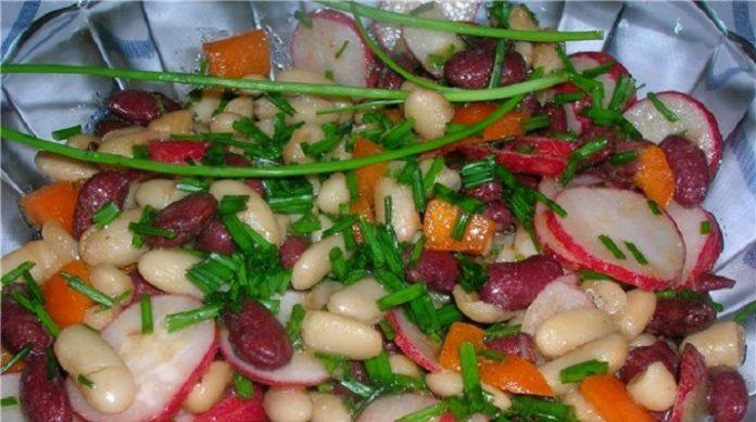 Салат «Две фасольки»