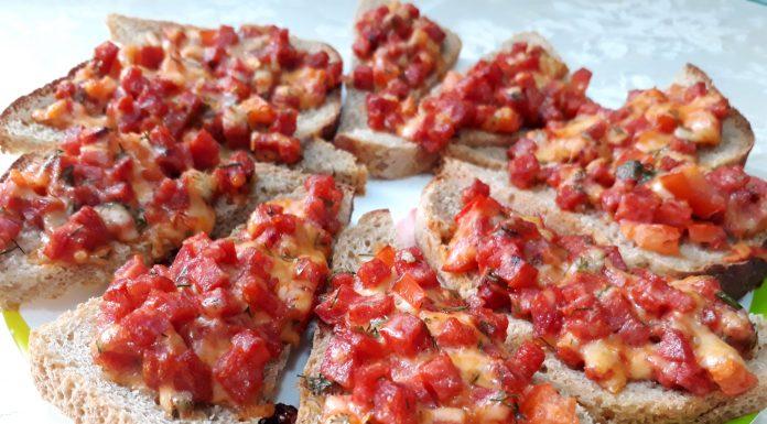 Мини-пиццы из хлеба