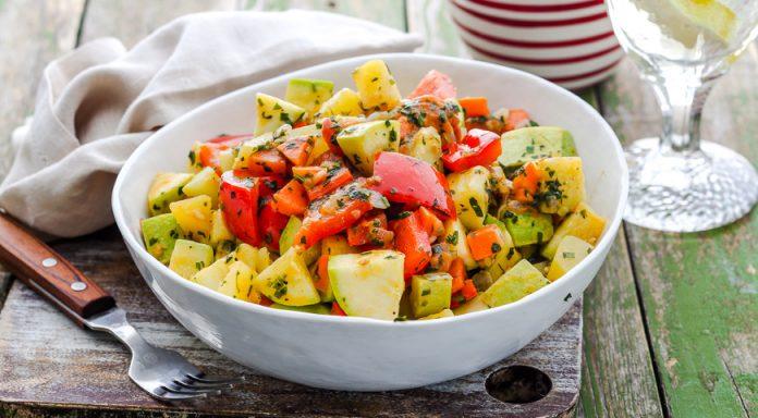 Рагу из овощей с грядки. Вегетарианский рецепт