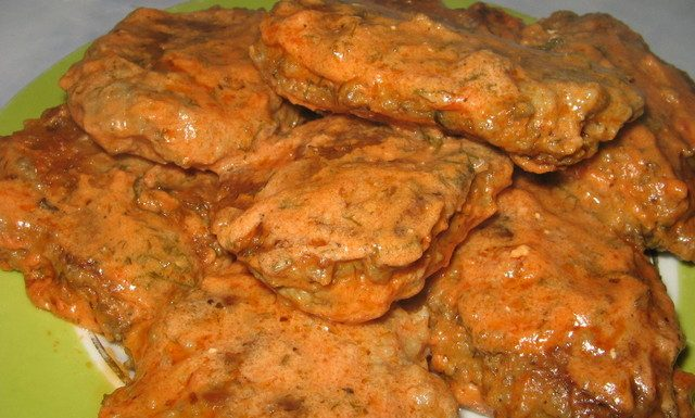 Оладьи из куриной печени