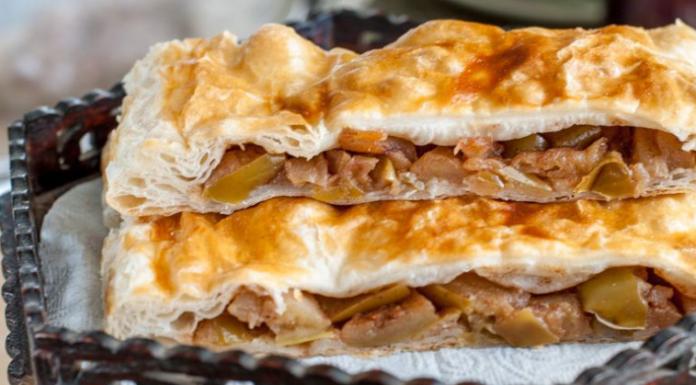 Слоеный пирог с яблоками в мультипекаре