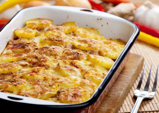 Запеканка из курицы и картошки