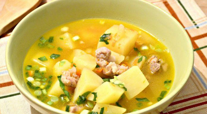 Суп картофельный с бараниной
