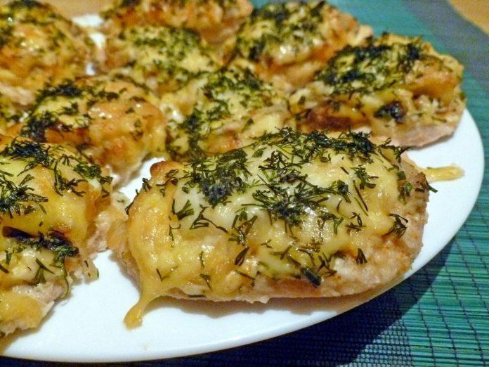 Бутерброды с курицей и грибами