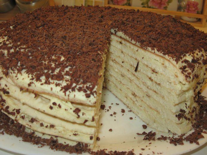 Простой торт на сковороде