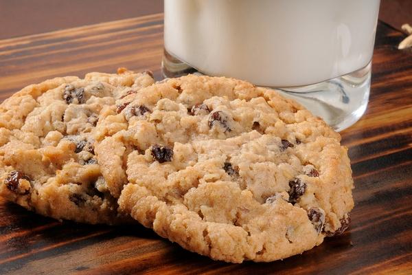 Овсяное печенье на скорую руку