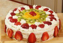 Бисквитно творожный торт, видео рецепт
