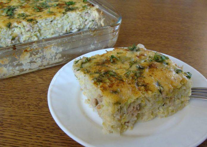 Овощи с рисом и сыром в духовке