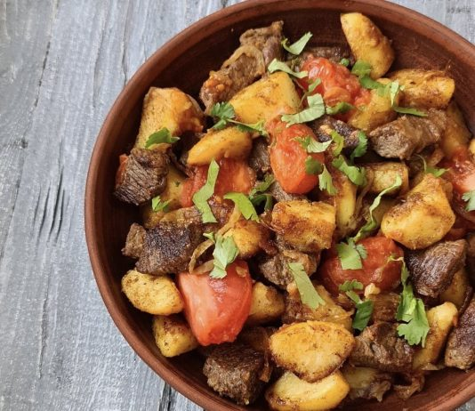 Вкуснейшее грузинское блюдо Оджахури