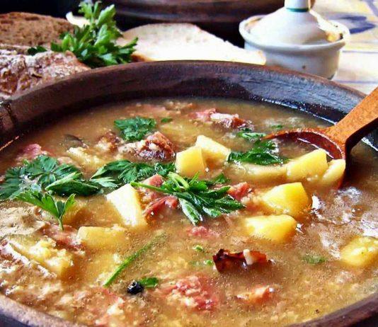 Наивкуснейший суп со свининой и пшеном. Пальчики оближешь!